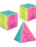 cheap -Qiyi Jelly Speed Cube Set, Qiyi Qidi S 2x2 Qiming Pyramid 3x3x3 Warrior W 3x3 Stickerless Magic Cube Bundle Puzzle Toys