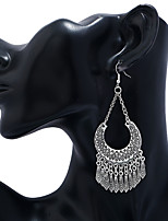 cheap -Women's Hoop Earrings Tassel Fringe Precious Vintage Cool Earrings Jewelry Silver For Party Wedding 1 Pair