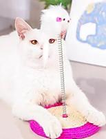 cheap -Scratching Board Dog Kitten 1pc Round Pet Exercise Sisal Gift Pet Toy Pet Play