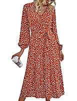 cheap -dress depot women wrap sexy brick red v neck empire waist dress long sleeve flowy vintage white maxi party dress with belt and snap s