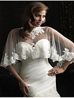 cheap -Sleeveless Ladies / Bridal Tulle Wedding / Engagement Women's Wrap With Appliques