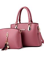 cheap -Women's Bags Top Handle Bag 2 Pieces Purse Set Shopping Office & Career Handbags Earth Yellow Wine Black Purple