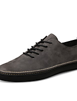 cheap -Men's Sneakers Comfort Shoes Casual Classic Daily Office & Career Nappa Leather Breathable Non-slipping Wear Proof Black Gray Spring Summer