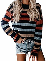 cheap -npradla 2019 autumn winter ladies sweater multicolor patchwork striped sweater casual knitted loose long sleeve