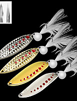 cheap -10 pcs Fishing Lures Spoons Bass Trout Pike Lure Fishing Freshwater and Saltwater