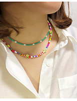 cheap -Women's Choker Necklace Necklace Handmade Laugh Dainty European Boho Resin Alloy Rainbow 21-50 cm Necklace Jewelry 1pc For Party Evening Street Prom Birthday Party Festival