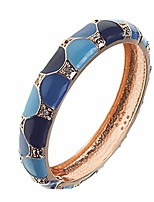 cheap -ujoy vintage cloisonne bracelet handcraft multi-colored enamel open hinged cuff bangle jewelry gifts 88c02 blue