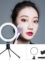 "cheap -6.3"" LED Ring Light Dimmable LED with Tripod Stand With Phone Holder 3 Color Lighting Modes for Photography Tiktok Youtube Video Makeup Live Streaming"