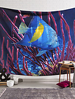 cheap -Wall Tapestry Art Decor Blanket Curtain Hanging Home Bedroom Living Room Decoration Polyester Underwater World Fish Coral