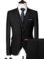 cheap -Tuxedos Tailored Fit Notch Single Breasted Two-buttons Polyster Solid Color / Color Block