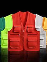 cheap -Women's Men's Hiking Vest / Gilet Fishing Vest Sleeveless Vest / Gilet Jacket Top Outdoor Quick Dry Lightweight Breathable Sweat wicking Autumn / Fall Spring Summer fluorescent green Light Gray Color