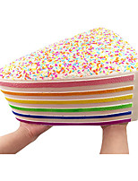 cheap -Giant Squishy Toys Jumbo Rainbow Cake Squishy Slow Rising Squishies with Rainbow Sprinkles Collection Gift Stress Reliever