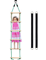 cheap -Wooden Rope Ladder Sports Rope Swing Climbing- Playground Hanging Ladder for Swing Set-Tree Ladder Toy for Children,Climbing Rope Ladder Exercise Equipment