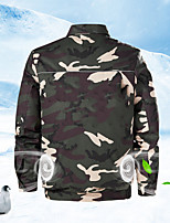 cheap -Men's Hiking Jacket Summer Outdoor Cooling Fan Jacket Air-Conditioning Clothing Lightweight Breathable Coat Top Sun Protection Wear Resistant Construction Work Clothes