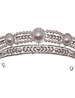 cheap -Women's Hair Jewelry For Wedding Engagement Party Wedding Classic Crystal Alloy Silver 1pc