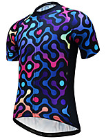 cheap -JESOCYCLING Men's Short Sleeve Cycling Jersey Black Bike Jersey Mountain Bike MTB Road Bike Cycling Quick Dry Breathable Sports Clothing Apparel / Stretchy