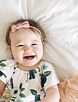 cheap -european and american baby bow hair headband cute baby headdress pure color seamless nylon thin hairband photo decoration