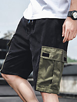 """cheap -Men's Hiking Shorts Hiking Cargo Shorts Patchwork Summer Outdoor 12"""" Ripstop Quick Dry Multi Pockets Breathable Cotton Knee Length Bottoms Army Green Black Khaki Work Hunting Fishing M L XL XXL XXXL"""