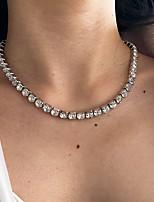 cheap -full diamond necklace creative retro simple inlaid rhinestone chain clavicle chain female