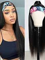 cheap -Headband Wigs Human Hair Straight Headband Wig Glueless None Lace Front Wigs Brazilian Virgin Hair Straight Human Hair Headband Wigs for Black Women 150% Density 12-30inch