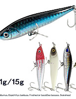 cheap -5 pcs Fishing Lures Hard Bait Minnow Pencil 3D Eyes Sinking Bass Trout Pike Lure Fishing Freshwater and Saltwater