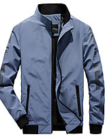 cheap -Men's Hiking Jacket Hiking Windbreaker Autumn / Fall Spring Outdoor Quick Dry Lightweight Breathable Sweat wicking Jacket Top Fishing Climbing Running Black Dark Green Sky Blue