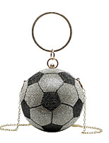 cheap -Women's Bags Top Handle Bag Glitter Shine Party Date 2021 Handbags Black / White Black Champagne Gold