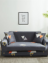 cheap -Cartoon Trianglel Print Dustproof All-powerful  Stretch Sofa Cover Super Soft Fabric  with One Free Boster Case