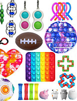 cheap -32 pcs Fidget Toys Anti Stress Set Strings Relief Pack Gift for Adults Children Figet Sensory Squishy Relief Antistress