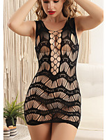 cheap -Women's Mesh Suits Nightwear Solid Colored Black One-Size