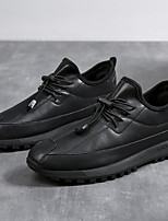 cheap -Men's Oxfords Sporty Look Comfort Loafers Driving Shoes Casual Daily Walking Shoes PU Breathable Non-slipping Wear Proof Black Brown Spring