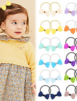 cheap -91206 primary school students candy color bow hair rope children's rubber band performance tie hair rubber band hair ring