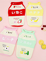 cheap -Dog Cat Shirt / T-Shirt Fruit Japan and Korea Style Cute Dailywear Casual / Daily Dog Clothes Puppy Clothes Dog Outfits Breathable Yellow Red Pink Costume for Girl and Boy Dog Padded Fabric S M L XL