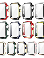 cheap -Cases For Apple iWatch Apple Watch Series SE / 6/5/4/3/2/1 44mm 42mm 40mm 38mm Plastic Screen Protector Smart Watch Case Compatibility 38mm 40mm