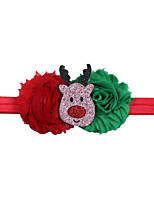cheap -2017 european and american baby christmas decoration headband children christmas new style old flower stitching cartoon pattern headband