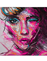 cheap -Oil Painting Hand Painted Pop Art Faces Paintings On The Wall Art  for Home Decoration Rolled Canvas No Frame Unstretched