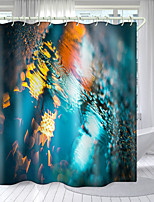 cheap -Psychedelic Seabed Digital Printing Shower Curtain Shower Curtains  Hooks Modern Polyester New Design