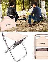 cheap -Camping Chair Multifunctional Portable Breathable Ultra Light (UL) Aluminum Alloy Oxford for 1 person Fishing Beach Camping Autumn / Fall Winter Black Khaki