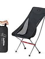 cheap -Camping Chair High Back with Headrest Portable Ultra Light (UL) Multifunctional Foldable Aluminum Alloy for 1 person Fishing Beach Camping Traveling Autumn / Fall Winter Black Grey / Breathable