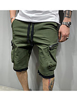 """cheap -Men's Hiking Shorts Hiking Cargo Shorts Drawstring Military Summer Outdoor 12"""" Ripstop Multi Pockets Breathable Sweat wicking Cotton Knee Length Bottoms White Black Green Work Hunting Fishing M L XL"""