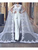 cheap -Sleeveless Elegant Lace / Tulle Wedding Party Women's Wrap With Appliques / Solid