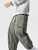 cheap -Men's Work Pants Hiking Cargo Pants Hiking Pants Trousers Summer Outdoor Ripstop Breathable Sweat wicking Wear Resistance Cotton Bottoms Army Green Black Light Grey Work Hunting Fishing M L XL XXL