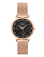 cheap -HANNA MARTIN ladies diamond simple japanese movement waterproof watch casual engraving flower quartz watch