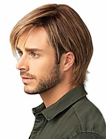 cheap -Men's Wigs Short Straight Layered Synthetic Hair Suitable For Men And Men's Daily Wear Role-playing Halloween Party