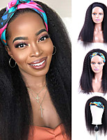 cheap -Headband Wig Kinky Straight Human Hair Wigs for Black Women  Indian Remy Human Hair Yaki Straight Wig None Lace Front Wigs Natural Color 150% Density