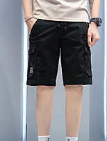 """cheap -Men's Hiking Shorts Hiking Cargo Shorts Summer Outdoor 12"""" Ripstop Quick Dry Multi Pockets Breathable Cotton Knee Length Bottoms Army Green Black Grey Khaki Work Hunting Fishing 28 29 30 31 32"""