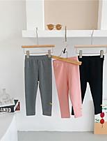 cheap -Girls' Leggings Spring 2021 New Korean Version of Children's Clothing Baby Girl Gray Pink Black Tights for Outer wear