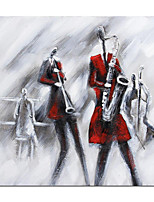 cheap -Oil Painting Hand Painted Abstract Band Posters Saxophonist Wall Art Home Room Decoration Rolled Canvas No Frame Unstretched