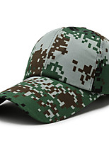 cheap -Men's Hats Fishing Hat Portable Ultraviolet Resistant Breathability Comfortable Camo Spring & Summer Terylene Hunting Fishing Camping / Hiking / Caving Everyday Use Forest Green Camouflage Color