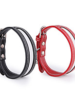 cheap -Dog Cat Pets Collar Reflective Band Anti Lost Tracker Collar Reflective Anti Lost Safety Outdoor Walking PU Leather Baby Pet Black Red 1pc